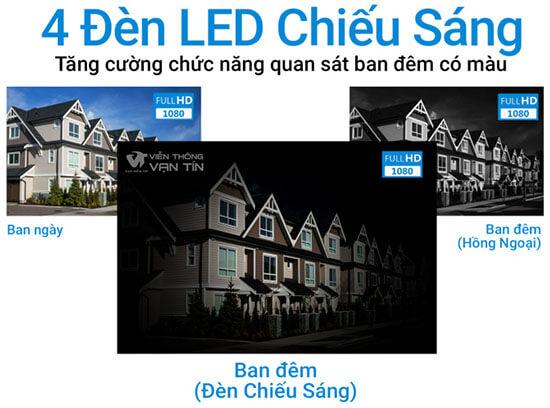 4 Đèn Led Chiếu Sáng Camera 4G Ngoài Trời SmartZ IS10