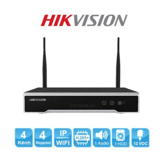 DS-7104NI-K1/W/M Đầu ghi hình Hikvision 4 kênh kết nối wifi