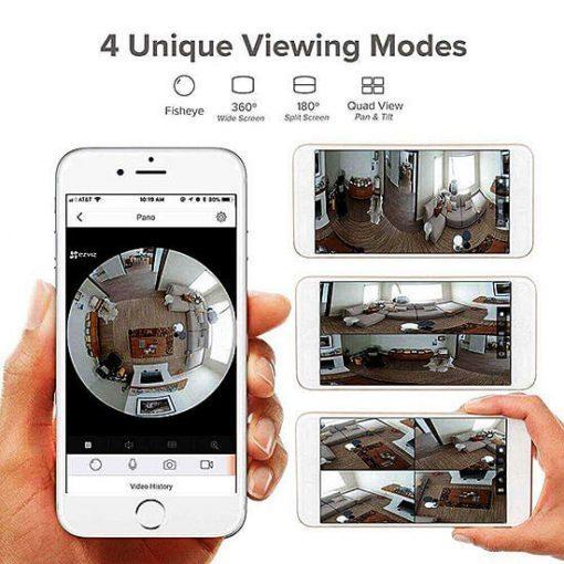 Xem Camera IP Wifi Fisheye EZVIZ C6P CS-CV346-A0-7A3WFR Qua Điện Thoại