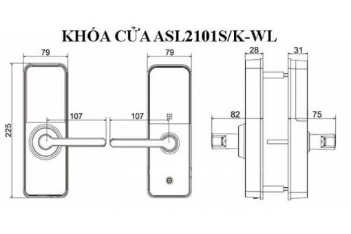 Thông Số Kỹ Thuật Khóa Cửa Thông Minh Dahua ASL2101S-R