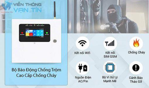 Bộ Báo Động Qua Wifi Sim Smartz GW89