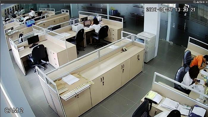 Hình ảnh quan sát camera Kbvision KX-A2011S4 - KX-A2012S4 ghi lại - Cam 2