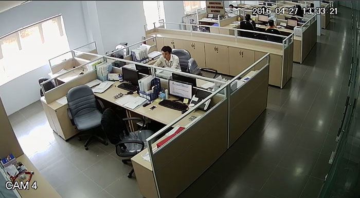 Hình ảnh quan sát camera Kbvision KX-A2011S4 - KX-A2012S4 ghi lại - Cam 4