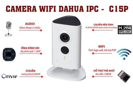 Chi Tiết Camera IP Wifi Dahua IPC-C15P
