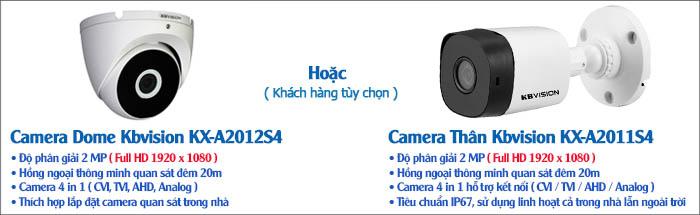 Camera Thân hoặc Dome KBVISIONđộ phân giải 2.0MP Full HD