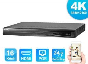 Đầu Ghi Hình IP Ultra HD 16 Kênh Hikvision DS-7616NI-K2/16P