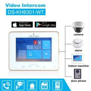 Màn Hình Cửa Wifi Thông Minh Hikvision DS-KH8301-WT Kết Nối Đa Dạng
