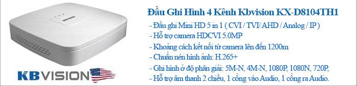 Đầu ghi Kbvision Mini HD 5in1 chuẩn nén H.265+