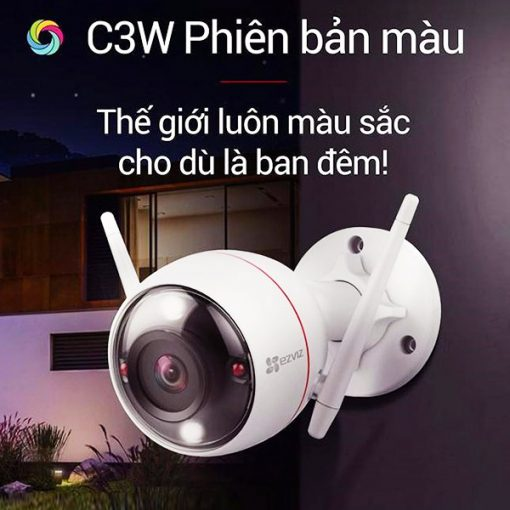 Camera AI Wifi Ezviz C3W 4MP Phiên Bản Có Màu Ban Đêm
