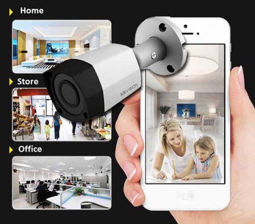 Camera KBvision KX-2011S4 Theo dõi linh hoạt qua điện thoại