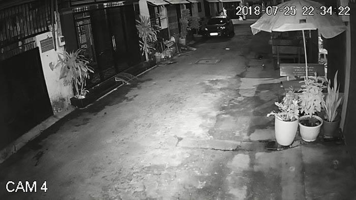 Hình ảnh quan sát camera Kbvision KX-A2011S4 - KX-A2012S4 ghi lại ban đêm