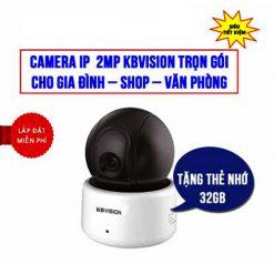 Trọn Bộ Camera Kbvision KBI-H20PWN IP Robot Giá Rẻ Cho Gia Đình