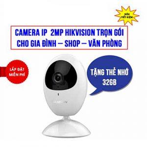 Trọn Bộ Camera Wifi 2MP Hikvision Plus HKI-2U21FD-IW Cho Gia Đình