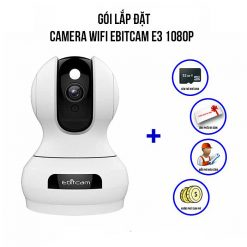 Trọn Bộ Camera Wifi Ebitcam E3 Full HD 1080P Giá Rẻ