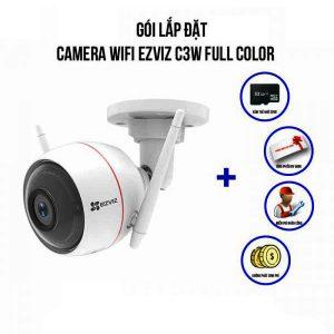 Lắp Đặt Trọn Bộ Camera IP Wifi EZVIZ C3W Full Color 1080P