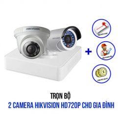 Khuyến Mãi Trọn Bộ 2 Camera Hikvision HD 720P Cho Nhà Ở