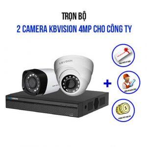 Trọn Bộ 2 Camera 4.0MP Kbvision Giá Siêu Khuyến Mãi 2021