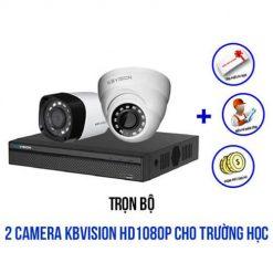 Trọn Bộ 2 Camera Kbvision 1080P Cho Trường Học - Giá Rất Rẻ