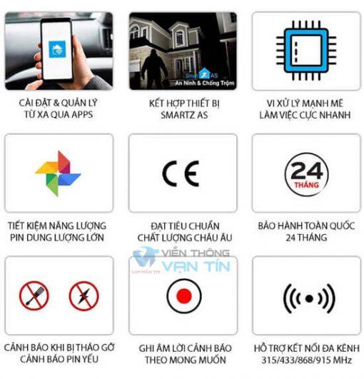 Bộ Báo Động Qua Wifi Sim Smartz GW89 Tính Năng Ưu Việt