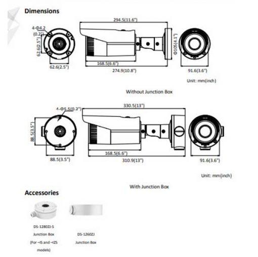 Kích Thước Kỹ Thuật Camera IP Hikvision DS-2CD2621G0-I