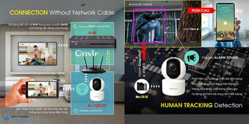 Camera Wifi AI Vantech AI-V2010D Tính Năng Thông Minh