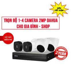 Ưu Đãi Trọn Bộ 1-4 Camera Dahua HD1080P Cho Gia Đình – Shop
