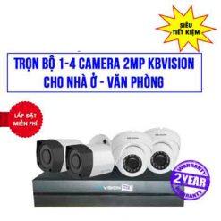Trọn Bộ 4 Camera KBvision 2MP