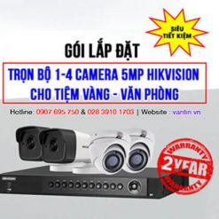 Sale Trọn Bộ 1-4 Camera 5MP HIKVISION Cho Tiệm Vàng, Văn Phòng