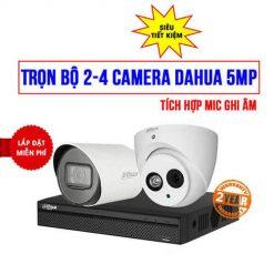 Lắp Đặt Trọn Bộ 2-4 Camera DAHUA 5MP Cho Bệnh Viện