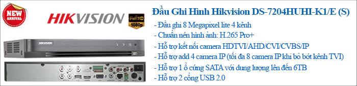 Đầu ghi Hikvision 8 MP Lite 4 kênhcông nghệ mớicông nghệ HD-TVI