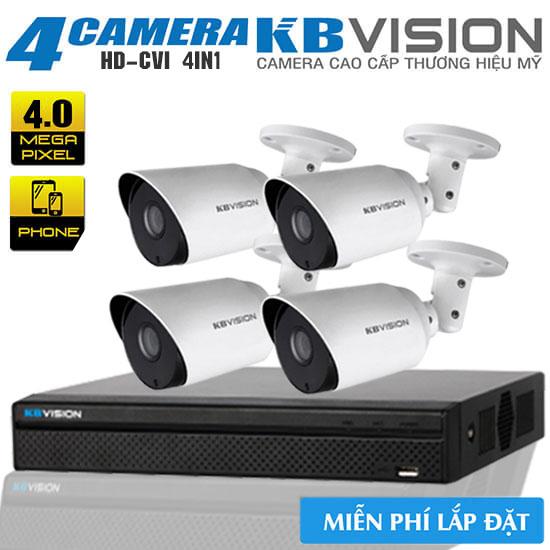 Trọn Bộ 4 Camera Kbvision 4MP