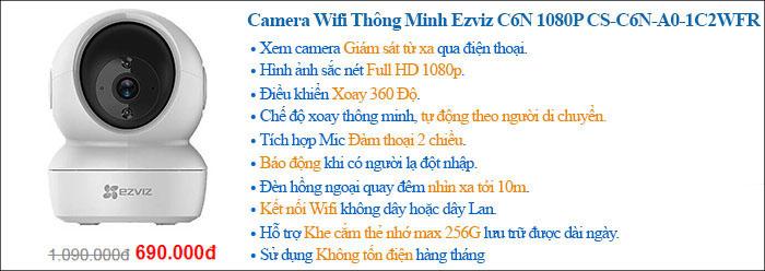 Camera Wifi Thông Minh Ezviz C6N 1080P CS-C6N-A0-1C2WFR
