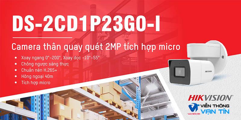 Camera IP thân quay quét 2.0 megapixel Hikvision DS-2CD1P23G0-I