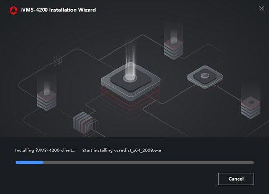 Màn hình iVMS-4200 Installation Wizard