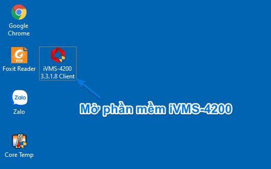 Mở phần mềm iVMS-4200 xem camera Hikvision