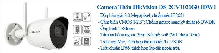 Camera Thân trụ 2MP DS-2CV1021G1-IDW (2.8mm)(D)
