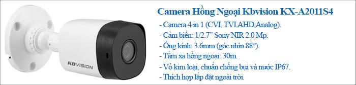 Camera Thân Hikvision 2.0MP vỏ kim loại, công nghệ HD-CVI
