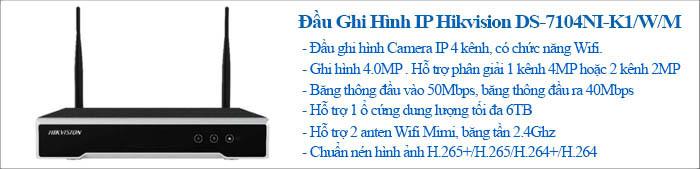 Đầu ghi 4 kênh Wifi DS-7104NI-K1/W/M(C)