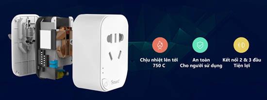 Ổ Cắm Wifi Thông Minh SmartZ SK08 Cực Bền, Sử Dụng An Toàn