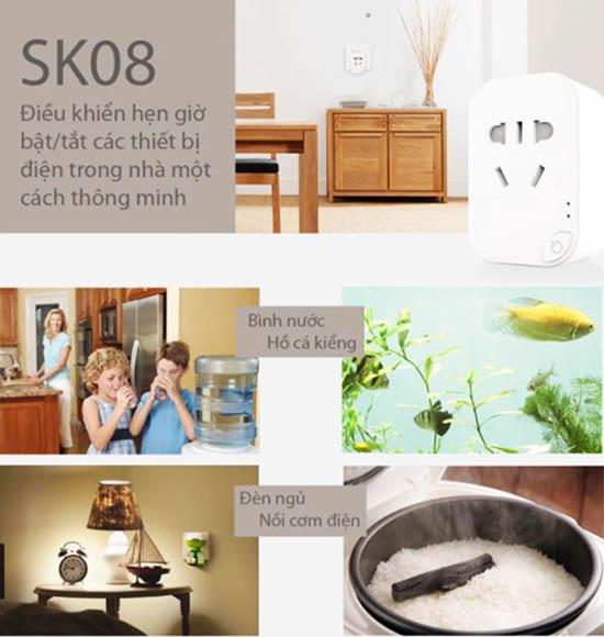 Ổ Cắm Wifi Thông Minh SmartZ SK08 Đa Năng