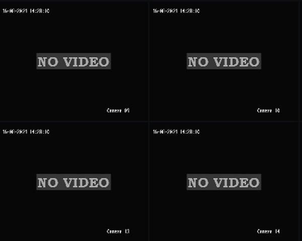 Toàn bộ hệ thống camera quan sát không lên hình